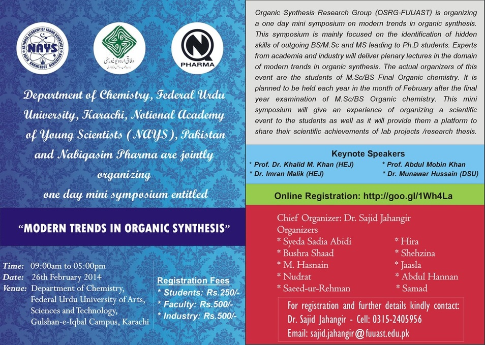 """national symposium modern trends and application National seminar on modern trends in national symposium on 1 2-day national level workshop on """"latex and its application"""" organized by."""